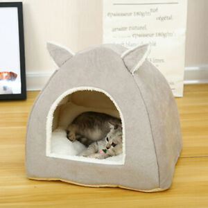 Pet Kennel Igloo Cat Dog House Warm with Rabbit Ears