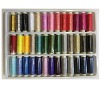 Machine Embroidery Thread Polyester 39 Spools Lot Colors Sewing Set 200 Yards