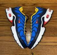 Nike Air Max Plus (GS) Athletic Sneakers Photo Blue Crimson Boys Size 5.5Y NEW
