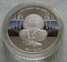 Niue 2011 $1 Great Commanders Alexander the Great silver color proof coin & CoA