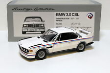 1:18 Minichamps BMW 3.0 CSL WHITE HERITAGE COLLECTION NEW in Premium-MODELCARS