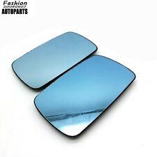 L+R Sedan Wagon Blue Wing Mirror Glass Heated Fit For BMW 3 5 Series E46 E39