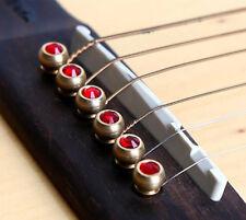Acoustic Guitar String Pegs With Abalone Ebony Guitar Bridge Bone Pins Set 6pcs