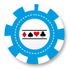 Pin Button Badge Ø38mm Jeton Chips Jeu Carte Poker Blackjack Roulette Casino