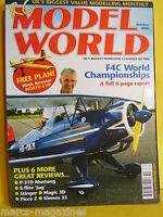 "RCMW OCTOBER 2006 RC MODEL WORLD HIRTH ACROSTAR 40"" SPAN PLAN STINGER MAGIC"