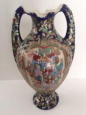 Antique Japanese Asian Oriental Gold Gilded Satsuma Two-Handled Porcelain Vase