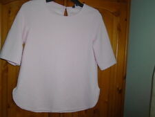 1 Pink textured weave spring /summer top, NEW LOOK, size 8