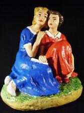 Sowjetische Mädchen, Freundinnen Antike UdSSR russisches gips figur 6821d