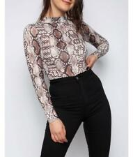 Long Sleeve Snakeskin Bodysuit (RRP £29.99) in the style of Topshop