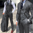Men's Formal Suits Peak Lapel Business Office Party Groom Wedding Tuxedos Slim
