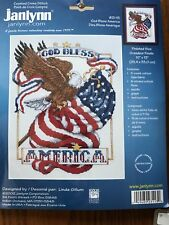 Janlynn Counted Cross Stitch Kit God Bless America #023-0113 New Sealed
