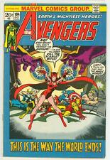 AVENGERS 104  6.5 7.0 VISION THOR IRON MAN SCARLET WITCH NICE PAGES RC
