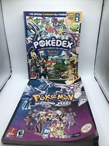Pokemon Diamond and Pearl Strategy Guide Full Pokedex Guide Vol 1+2 No Posters