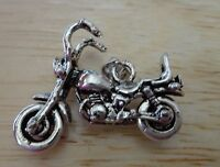 Sterling Silver 3D 23x28mm 6gram Movable Motorcycle Chopper Charm