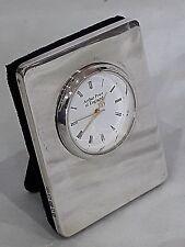 Arthur Price Hallmarked 925 silver framed clock, 5 cm x 6.5 cm