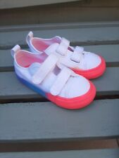 Toddler Girls Converse Size 7. White And Neon.