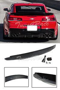 For 14-15 Chevrolet Camaro Rear Trunk ZL1 Style Wing Lip Spoiler W/ Wicker Bill