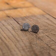 Pendientes espiral con brillo de acero CALIDAD ENVÍO GRATUITO ESPAÑA Ref. b3