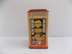 CHAD VALLEY TELEPHONE MONEY BOX GOOD CONDITION RARE 1940/50S ?