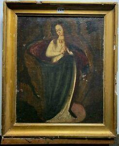 Dipinto antico religioso - MARIA NELLO SPLENDORE DELLA SUA POTENZA - XVII sec