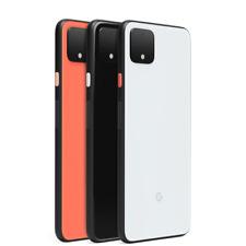 Google Pixel 4 XL 64GB - Just Black White Orange Unlocked (Single SIM) A Stock