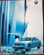 BMW Miniaturen 2003 2004 Katalog Model Die Cast Car Catalog, in German Language
