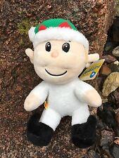 "Build a Bear 8"" Mini Christmas Festive Holiday Elf Plush Toy - NEW"