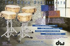 1996 small Print Ad of DW Drum Workshop Snare Craviotto Edge Collector's Vintage