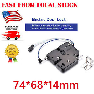 DC 12V 2A Solenoid Electromagnetic Electric Control Cabinet Drawer Lockers Lock
