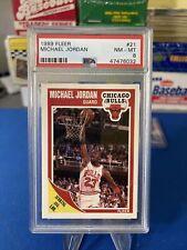 MICHAEL JORDAN PSA 8 1989 FLEER BASKETBALL #21 SCORING AVG LEADER BULLS PSA 8!