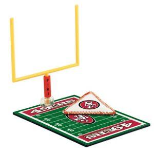 Fiki Football Set Field Goal Post Leather Ball San Francisco 49ers