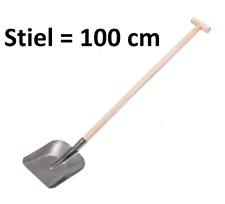Handschaufel Bauschaufel Schaufel mit T-Griff Stiel 100cm Gartenschaufel 27x18cm