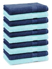Betz 10 Seiftücher Seiflappen Seiftuch Waschlappen Premium 30x30 blau / Türkis