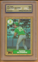 1987 Topps Rookie Mark McGwire Card #366 USA 8 Near Mint Oakland Athletics