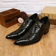 Mens Pointed Toe Lace Up Genuine Leather Casual Brogues Oxfords Shoes Stylish