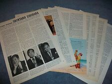 Politician & Author Shintaro Ishihara Candid Vintage Interview Article