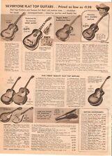 VINTAGE 1955 SILVERTONE ELECTRIC GUITARS FIDDLES AMPLIFIERS CATALOG PRINTS ADS