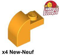 Lego 4x Brique Brick Modified 1x2x1 x1//3 curved violet//purple 6091 NEUF