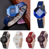 Women Fashion Casual Rhinestone Leather Strap Wrist Watch Analog Quartz Watches