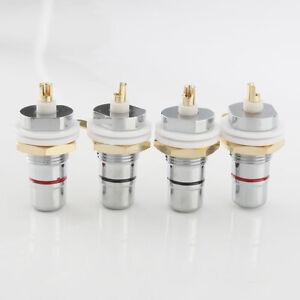 8PCS Rhodium Plated RCA Socket Female RCA Jack connector chassis socket amp