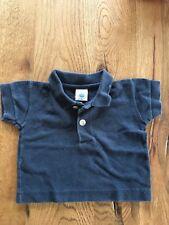 Petit Bateau Polo Shirt Gr. 56 60  0 - 6 Monate blau