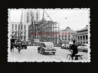 1950s British Colonial Building Car Bicycle Bridge Bus Hong Kong Photo  #1419