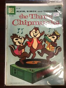 THREE CHIPMUNKS (1959 Series) #1 Four color #1042 dell Comics alvin and the