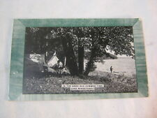 Lake Minnetonka 1908 Good old summer time camp Antique Postcard  T*