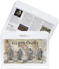 Set Of 4 Pewter Roman Gladiators Figures. -  Quality Gift Idea
