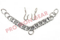 Western English Bit,Curb Chain Stainless Steel Double Link with Hooks