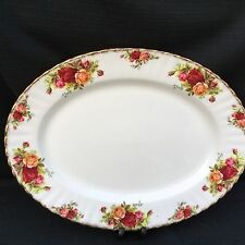 ROYAL ALBERT OLD COUNTRY ROSE  Large   Oval Meat Platter 33 Cm