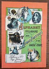ALPHABET SYLLABAIRE DES ANIMAUX DOMESTIQUES et de basse cour. images Epinal.