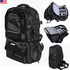 Waterproof Large BLK Backpack Bag Case for Camera Lens DSLR Canon EOS Nikon Sony