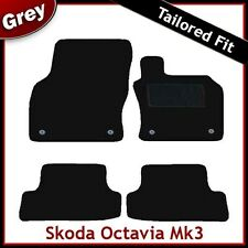 Skoda Octavia Mk3 2012 onwards Tailored Fitted Carpet Car Floor Mats GREY